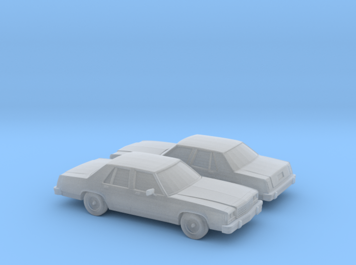 1/160 2X 1979-87 Ford Crown Victoria 3d printed