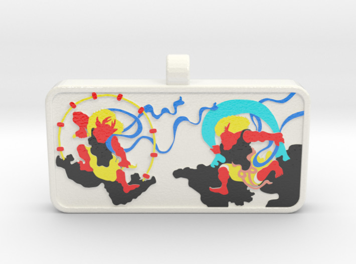 Customizable Raijin Fujin Name Tag v2 3d printed