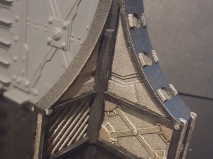 Bulkhead End Full V1 3d printed painted example(acrylic paints)