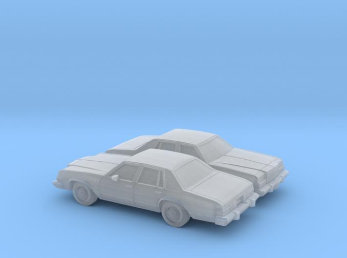 1/160 2X 1977-78 Buick Le Sabre Sedan 3d printed
