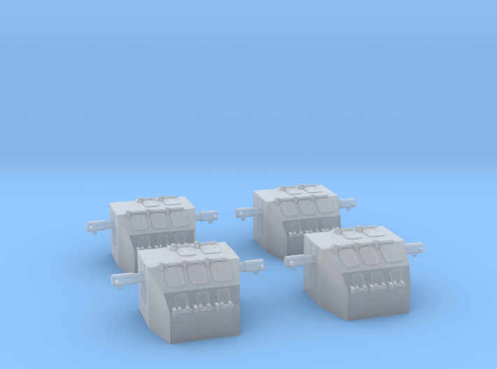 """1/700 Mk.37 (Early) Directors, """"Square-back"""" 3d printed"""