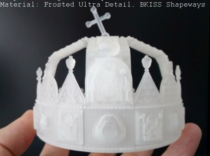 """Hungarian Holy Crown - half scale 3d printed Photo about 3dprint """"Hungarian Holly Crown - half scale"""". Material: Frosted Ultra Detail."""