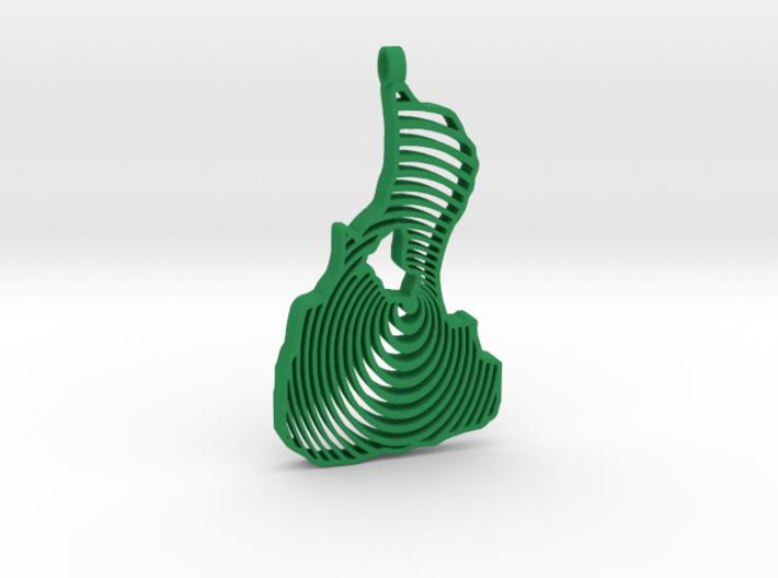 3D Printed Bi Circle Keychain 3d printed