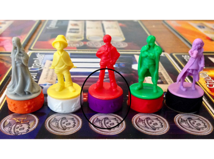 Argent Bases - Planar (7 pcs) 3d printed Picture courtesy of user kevinpdx on BGG. Game miniatures and board copyright Level99 games.