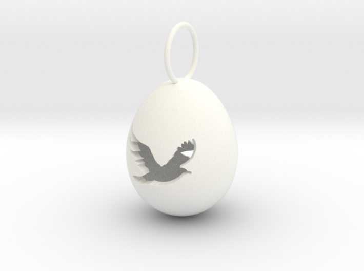 Bird Egg Pendant 3d printed