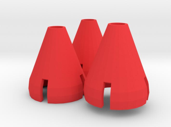 Gorilla Hands - 3 Cones 3d printed