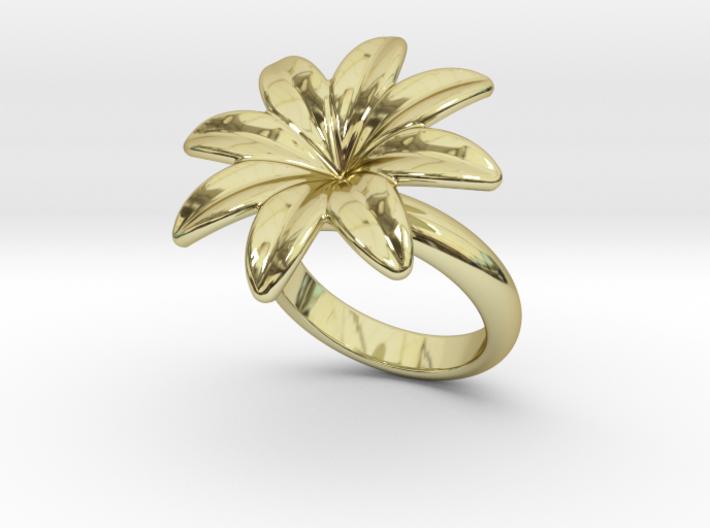 Flowerfantasy Ring 18 - Italian Size 18 3d printed