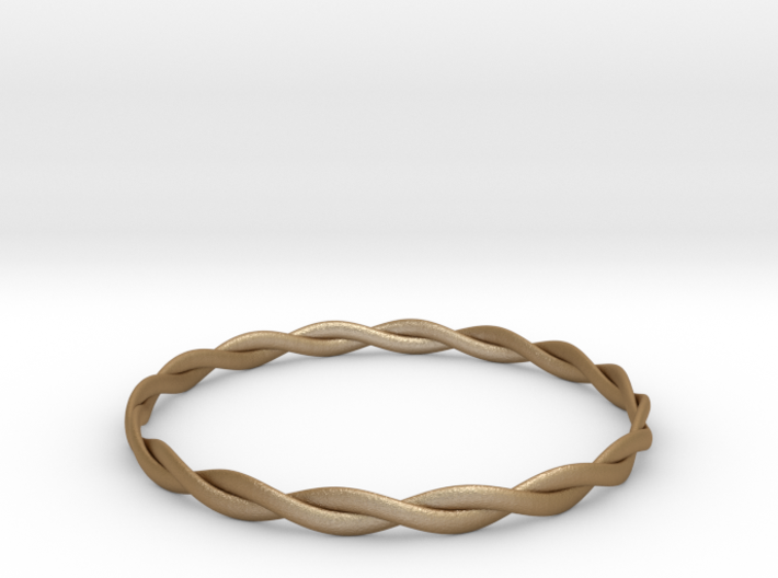 Double Twist Bangle 3d printed