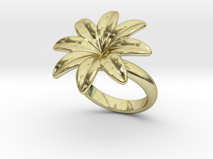 Flowerfantasy Ring 28 - Italian Size 28 3d printed