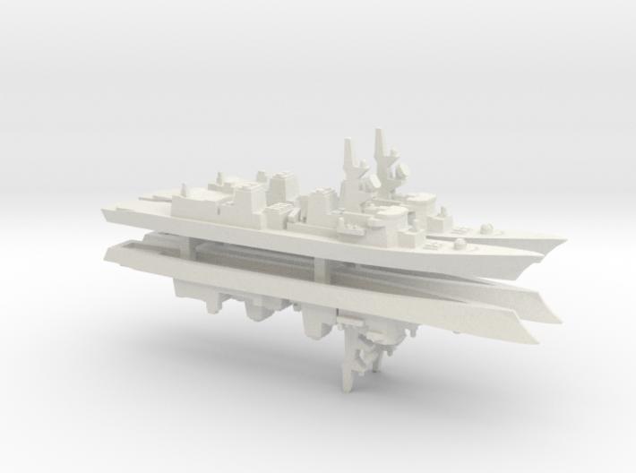 Murasame-class destroyer x 4, 1/1800 3d printed