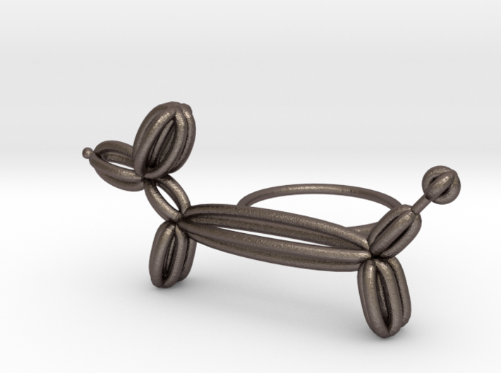 Long Balloon Dog Ring size 3 3d printed