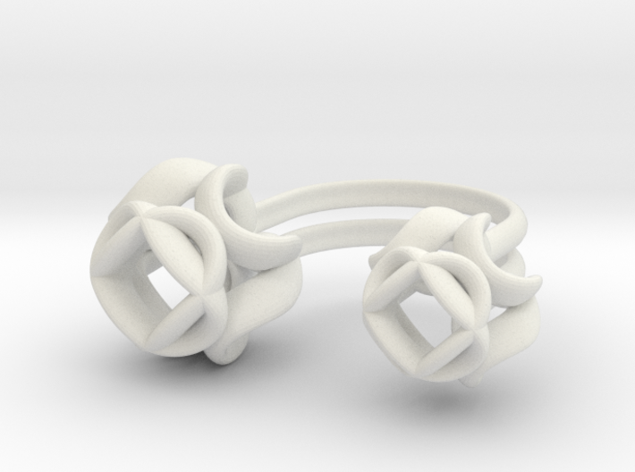 Double Rose Ring size 1 3d printed