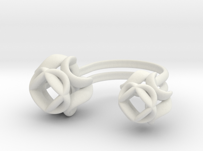 Double Rose Ring size 3 3d printed