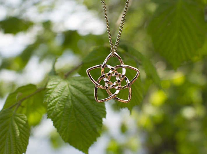 Venus flower small 3d printed Rose Gold Plated