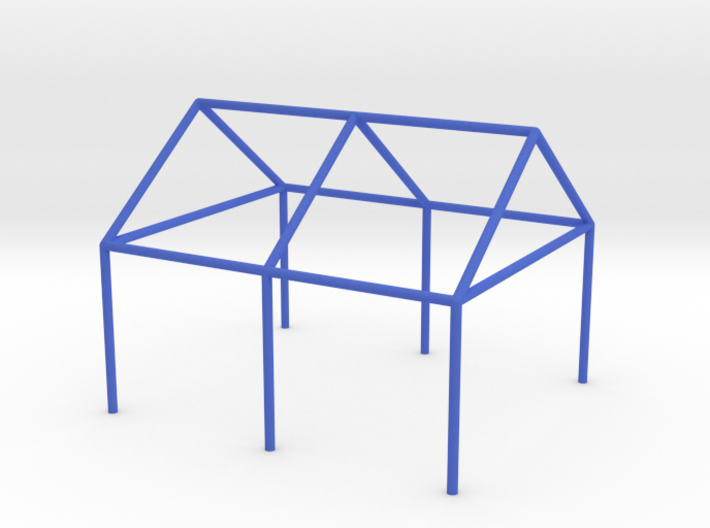 Tent Frame Scale Model reinforced 3d printed