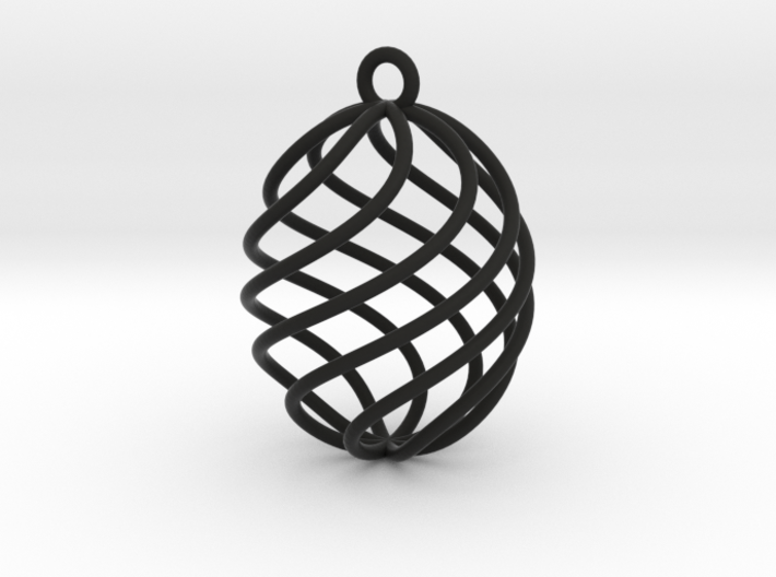 Small oval crystal therapy cage 3d printed