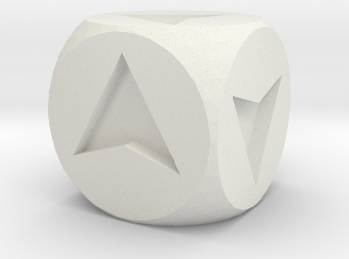 Directional Dice 3d printed
