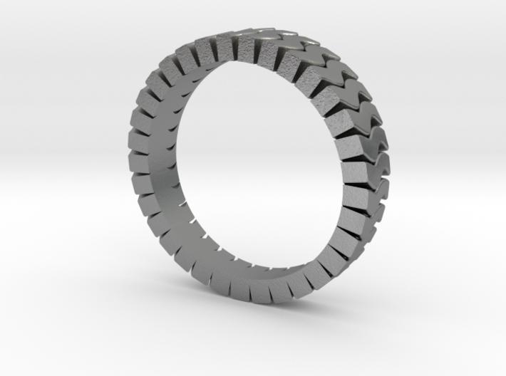 Ø0.674 inch/Ø17.13 mm Wave Ring Model A 3d printed