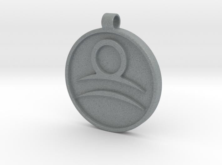 Zodiac KeyChain Medallion-LIBRA 3d printed