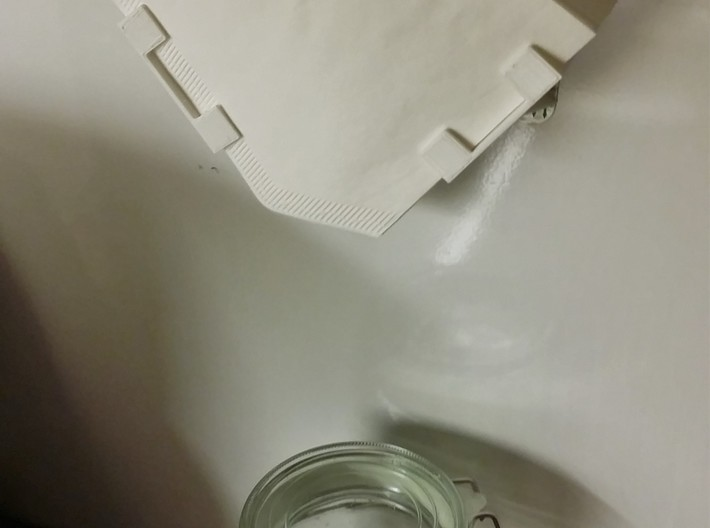 Coffee Filter Paper Holder - Wall Mounted 3d printed