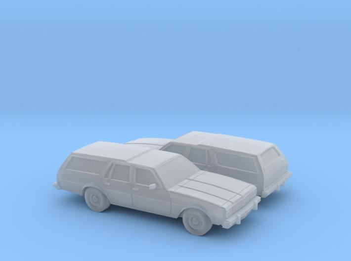 1/160 2X 1977-78 Chevrolet Impala Station Wagon 3d printed