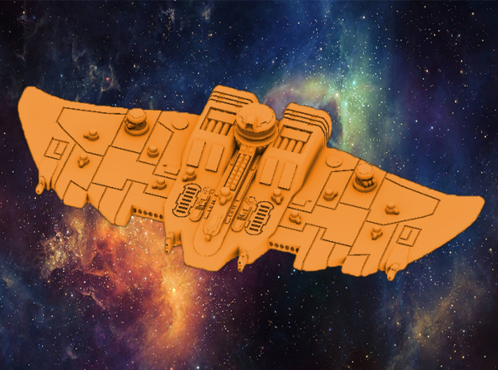 Tau Cruiser Customized Battlefleet Proxy Protector 3d printed