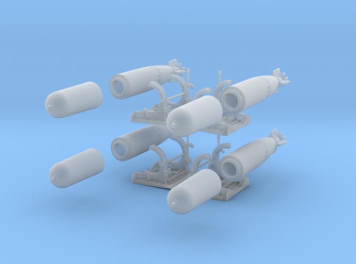 1-48 PT Torpedo Rack TypA Set1 3d printed