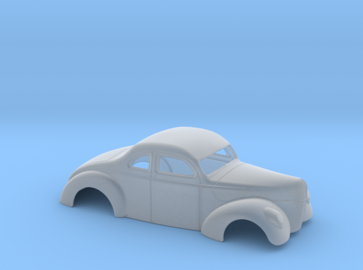 1/43 1940 Ford Coupe 2 Inch Chop 3d printed
