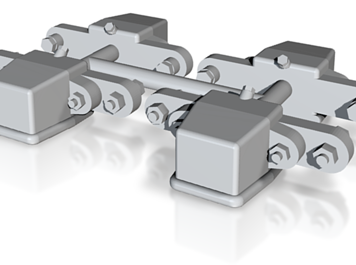 O&K Achslager 1:17, O&K Axleboxes 1:17 3d printed