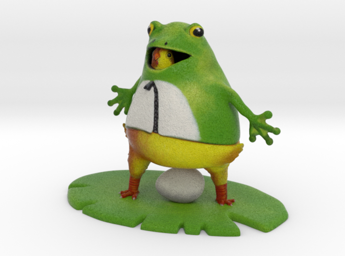 "Chic in a Frog Suit - 4"" Tall 3d printed"