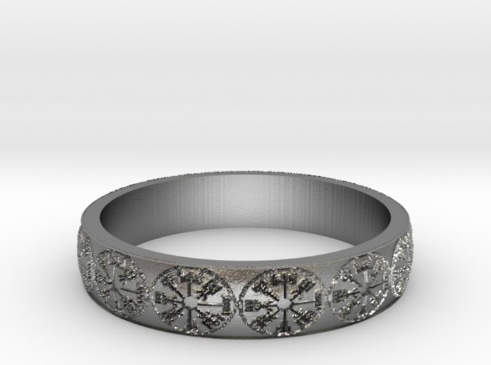 Vegvisir Ring Size 13 3d printed