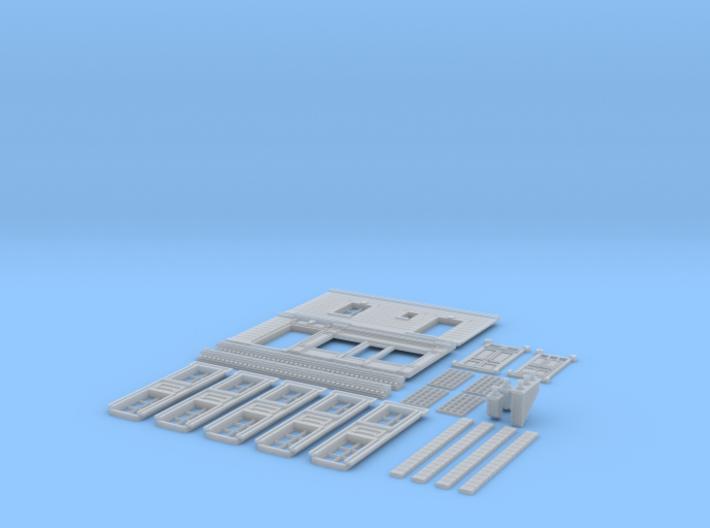 NVIM23 - City buildings 3d printed