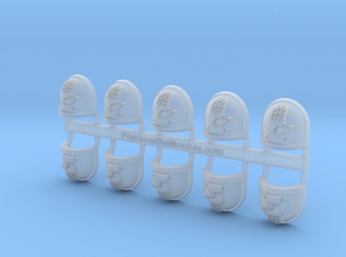 Emperors Hand - Gen7:Standard Shoulder x10 3d printed
