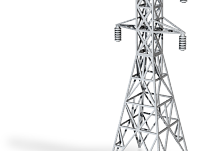 Z scale transmission tower 3d printed