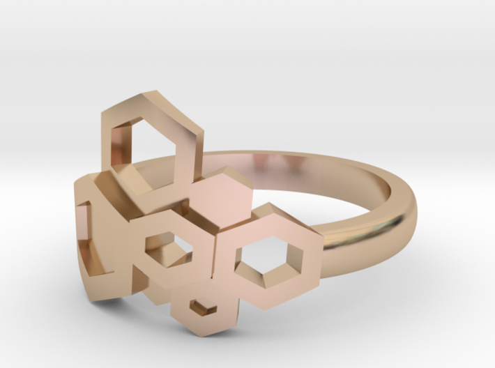 Honey ring polished 3d printed