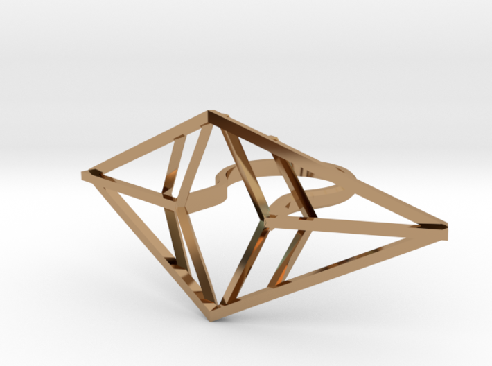 Statement geometric rhombus ring 3d printed