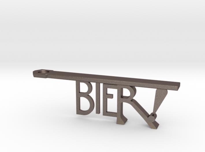 Bier! Keychain Bottle Opener 3d printed