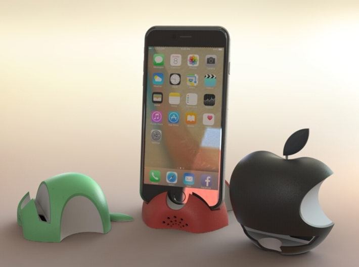 iPhone 6S/6S Plus Dock-Green 3d printed 3D Rendered images of iPhone 6S Plus with Green,Red & Black colour dock