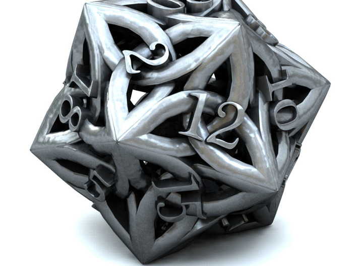 Celtic D20 3d printed 3D Render