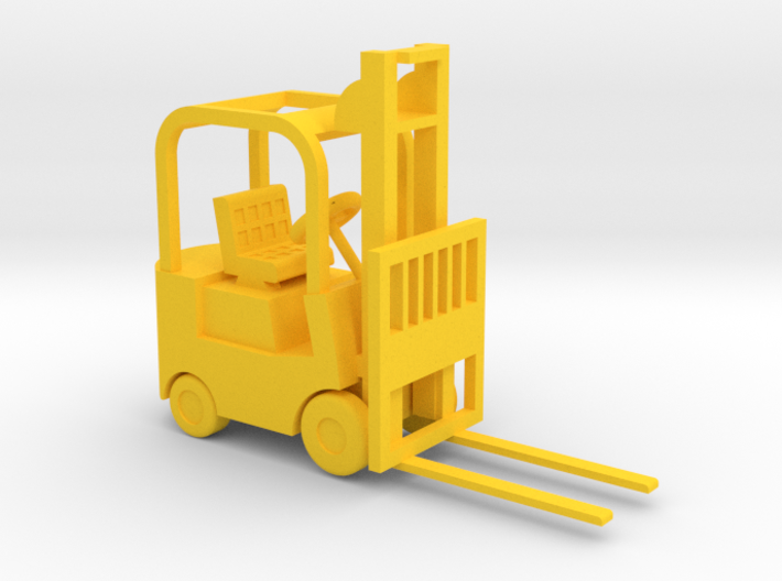 Forklift 20 Ton - HO 87:1 Scale 3d printed