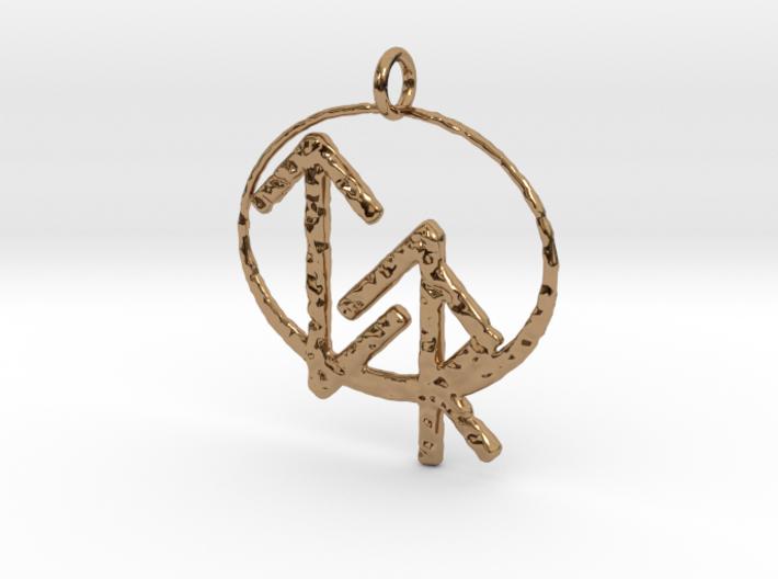 Justice Bind Rune Pendant 3d printed