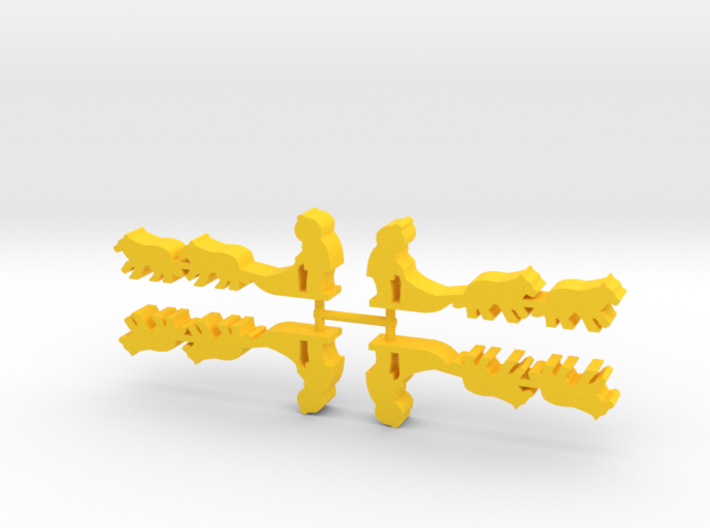 Game Piece, Dog Sled, 4-set 3d printed