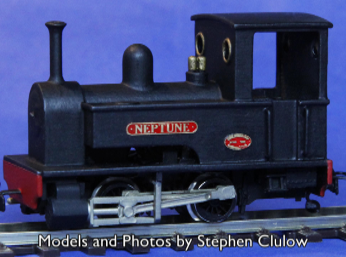 OO9 Kerr Stuart 0-4-0T - Fleischmann 7000 Chassis 3d printed Model and Photo by Stephen Clulow