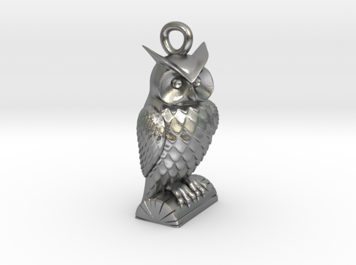 Owl Necklace Big 3d printed