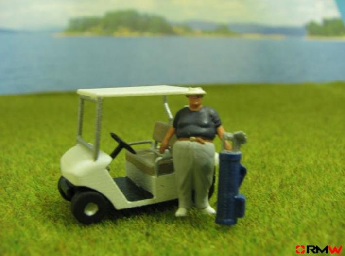 HO/1:87 Golf cart, kit 3d printed [en]Diorama suggestion