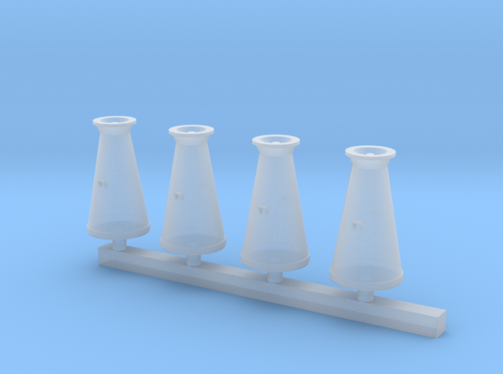 Milk Churns 4mm scale 3d printed