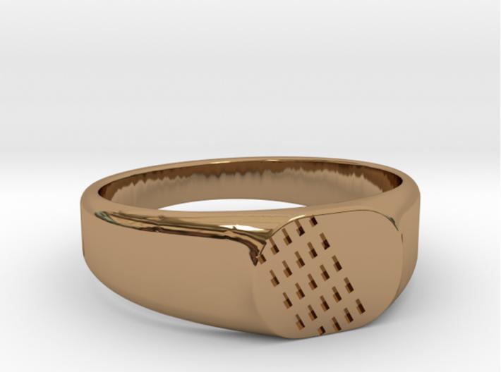 FAUNO Ring 3d printed FAUNO Ring in Brass