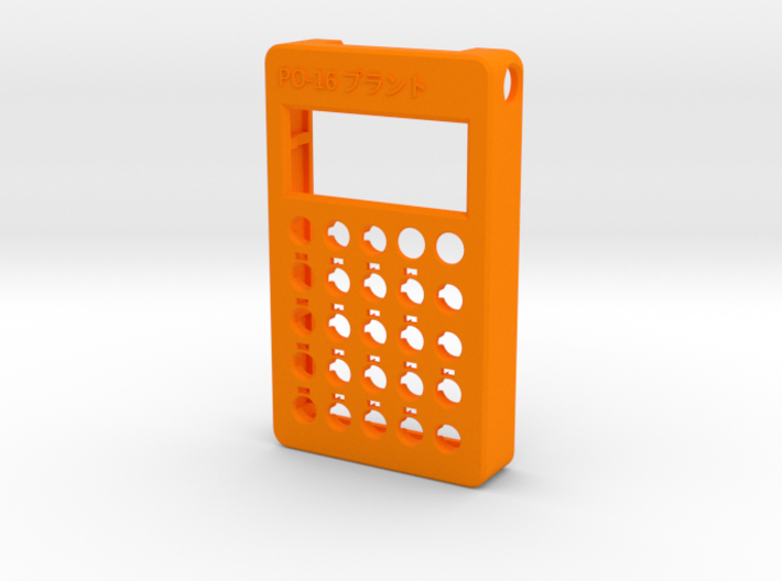 PO-16 case front 3d printed