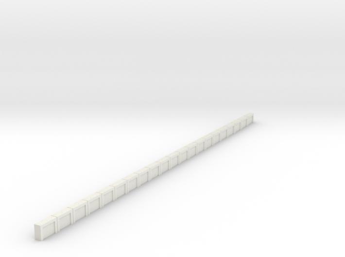 Flexible Bahnsteigkante (N 1:160) 3d printed