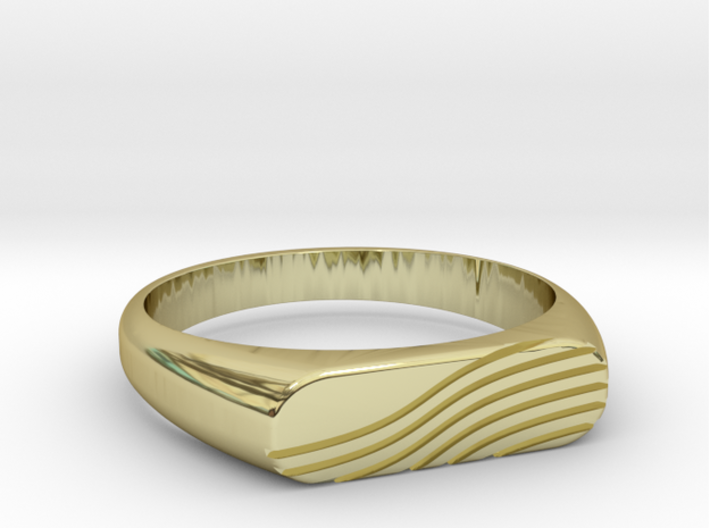PROCIDA Ring 3d printed PROCIDA Ring in 18k Gold Plated